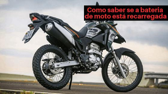 Como saber se a bateria de moto está sendo recarregada?
